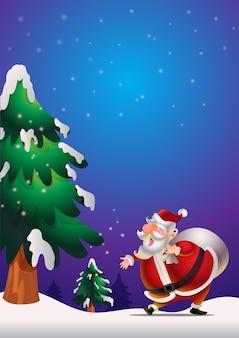 Weihnachtsmann poster blau