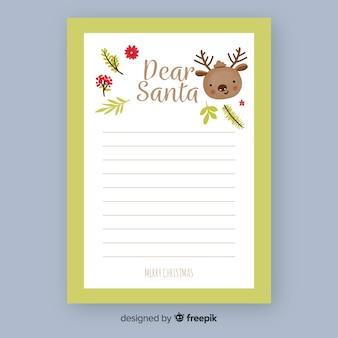 Weihnachtsmann rentier brief vorlage