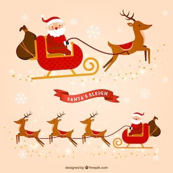 Weihnachtsmann schlitten flat pack