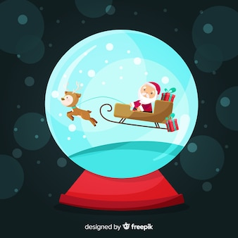 Weihnachtsmann schlitten weihnachten schneeball