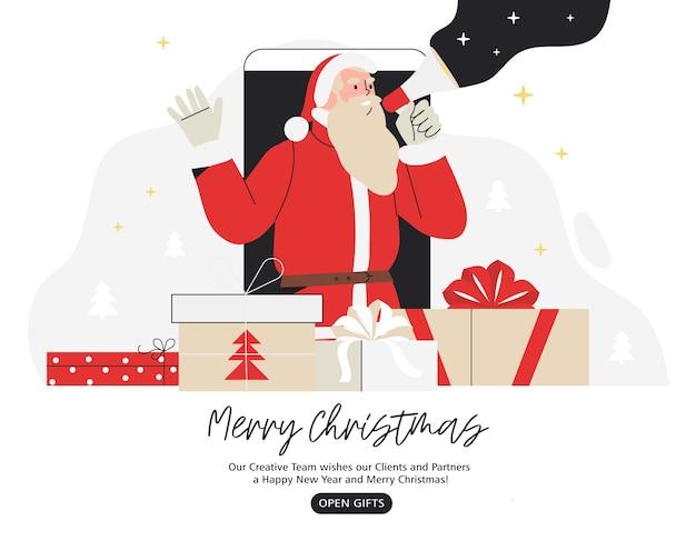 Weihnachtsmann schreit im lautsprecher