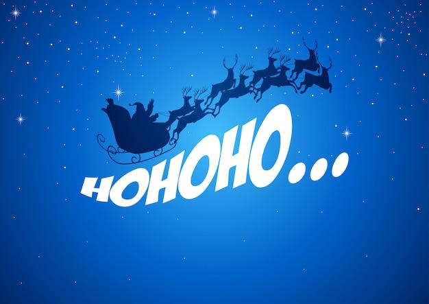 Weihnachtsmann seinen schlitten fahren