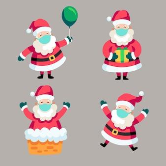 Weihnachtsmann-set mit gesichtsmaske