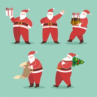 Weihnachtsmann-vektor-sammlung