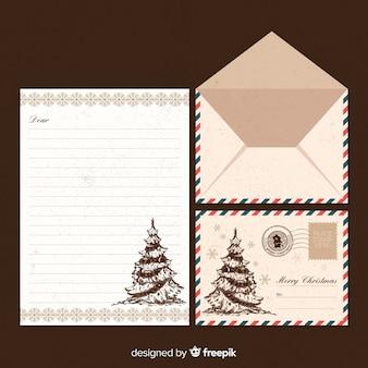 Weihnachtsmann vintage brief vorlage