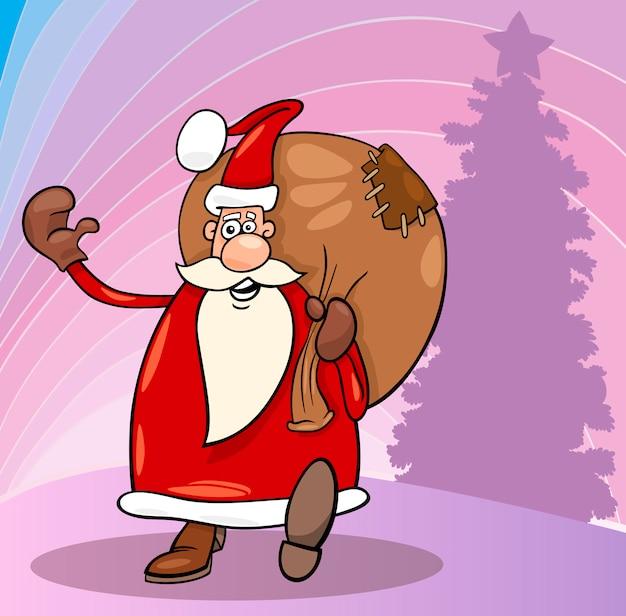 Weihnachtsmann weihnachten cartoon illustration