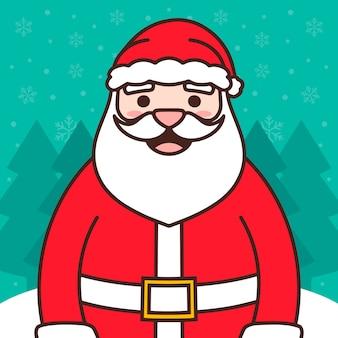 Weihnachtsmann weihnachten illustration