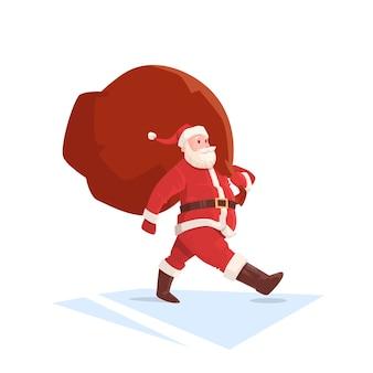 Weihnachtsmann-weihnachtsfeiertags-großes geschenk-taschen-geschenk