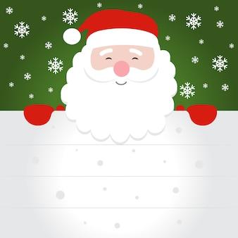 Weihnachtsmann weihnachtsmann mit leeren zeichen