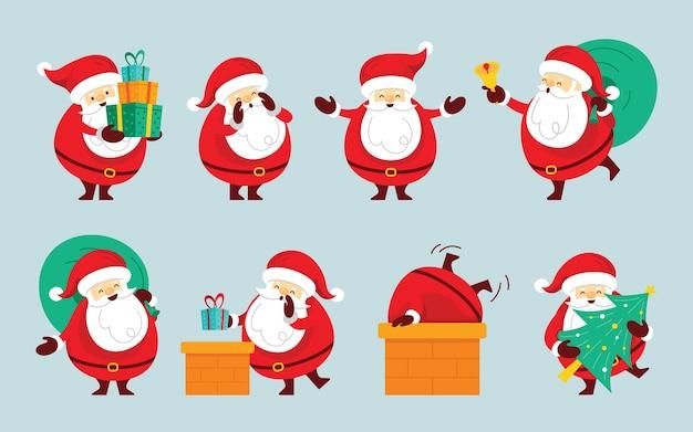 Weihnachtsmann-zeichensatz