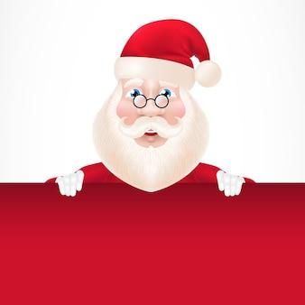 Weihnachtsmann zeichentrickfigur