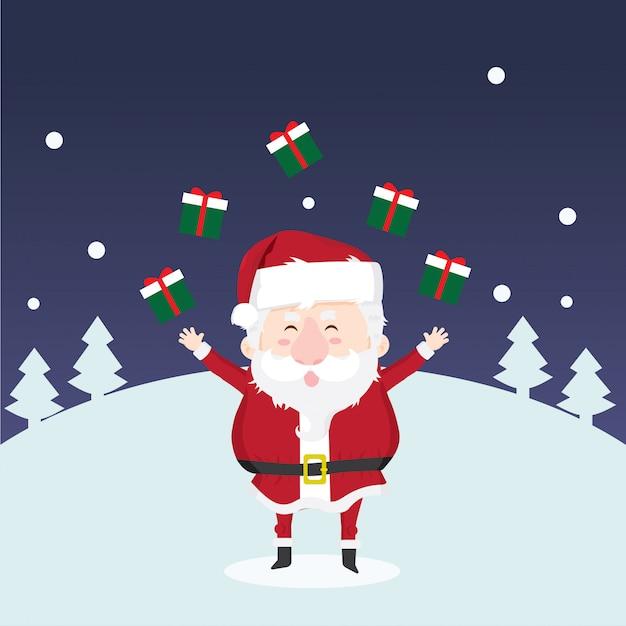 Weihnachtsmann Premium Vektoren