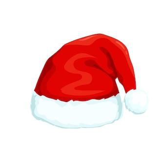 Weihnachtsmannhutikone im karikaturstil