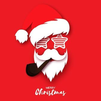 Weihnachtsmannmütze und bart