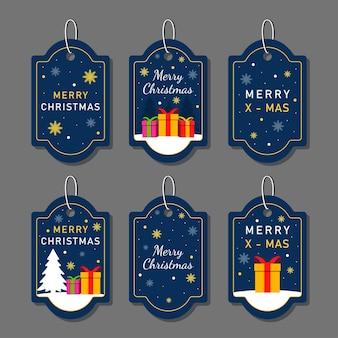 Weihnachtsmarken gesetzt