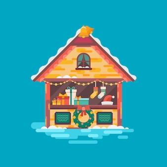 Weihnachtsmarkt. weihnachtsstimmung illustration.