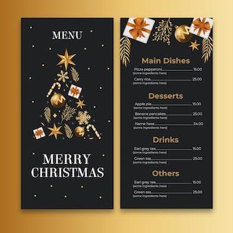 Weihnachtsmenü-konzept