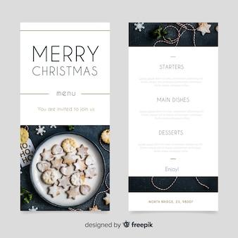 Weihnachtsmenü mit keksen