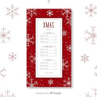 Weihnachtsmenüvorlage mit foto