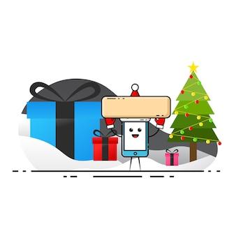 Weihnachtsmotiv auf weißem hintergrund