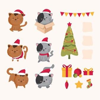 Weihnachtsmotiv-cartoon-set
