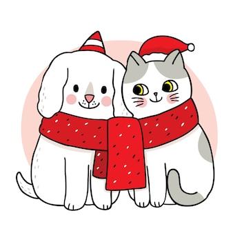 Weihnachtsmotivkarikatur