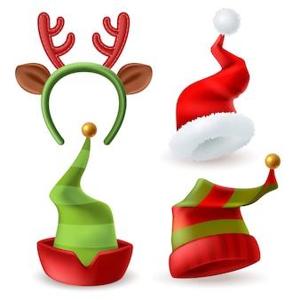 Weihnachtsmützen sammlung