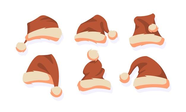 Weihnachtsmützen. weihnachtselemente