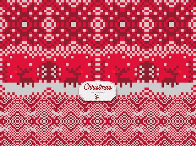 Weihnachtsmuster 3er pack
