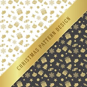 Weihnachtsmuster für packpapier und grußkarte