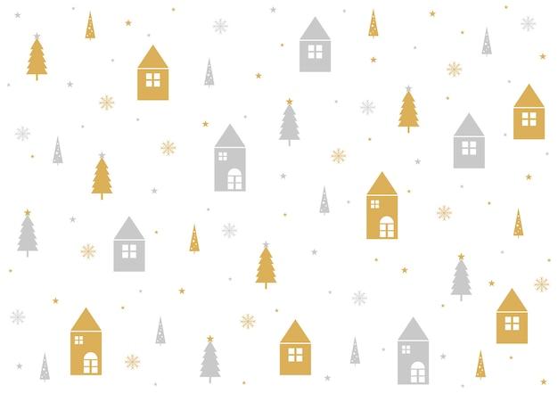 Weihnachtsmuster-hintergrunddesign auf weißem hintergrund