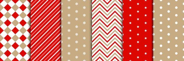 Weihnachtsmuster im minimalistischen stil