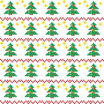 Weihnachtsmuster im pixel-art-stil