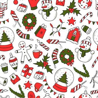 Weihnachtsmuster mit kritzeleien