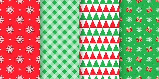 Weihnachtsmuster mit nahtloser illustration