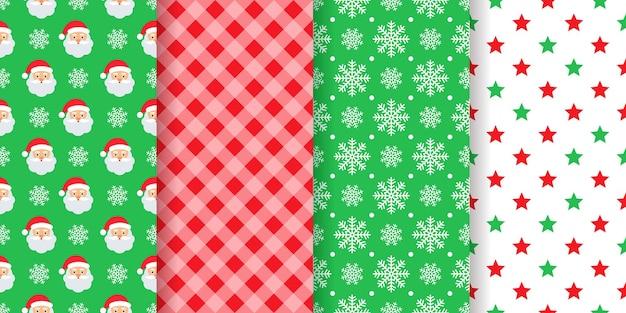 Weihnachtsmuster. nahtloser hintergrund. weihnachten, neujahrs-geschenkpapier. stellen sie festliche textildrucke ein.