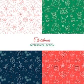 Weihnachtsmuster-sammlung