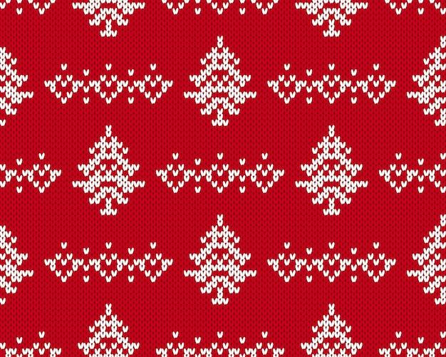 Weihnachtsmuster stricken.