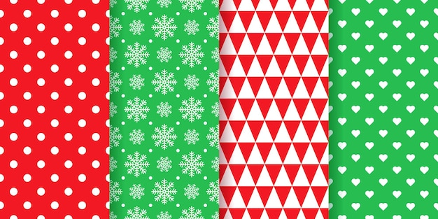 Weihnachtsmuster. weihnachten, neujahr nahtlose textur packpapier. geometrischer druck des feiertags. illustration