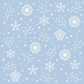 Weihnachtsmusterhintergrund mit elementikonen