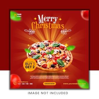 Weihnachtsnahrungsmittelrabatt social media post template design