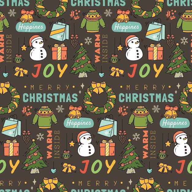 Weihnachtsnahtloser hintergrund