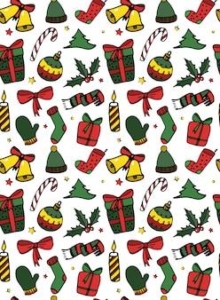 Weihnachtsnahtloses muster / druckdesign