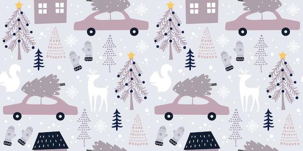 Weihnachtsnahtloses muster für dekoration