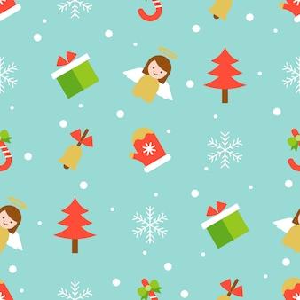 Weihnachtsnahtloses muster für gebrauch als tapete