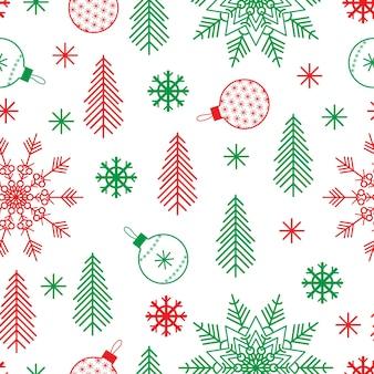 Weihnachtsnahtloses muster im minimalistischen skandinavischen stil