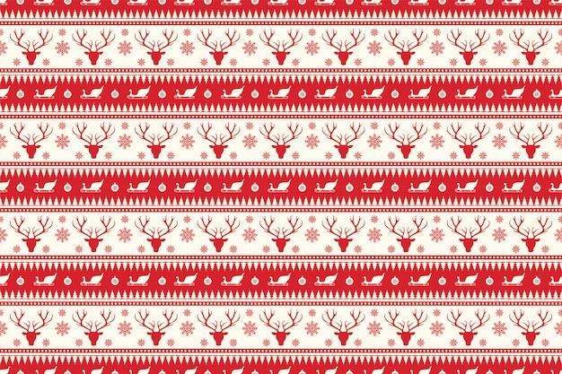 Weihnachtsnahtloses muster in der roten farbe