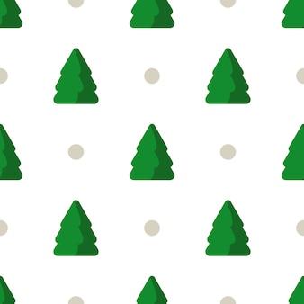 Weihnachtsnahtloses muster mit abstrakter geometrischer verzierung, weihnachtsbaum formt