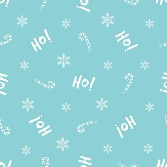 Weihnachtsnahtloses muster mit festlichem text und dekorativen elementen. neujahrsdesign für geschenkpapier, geschenkboxen, stoff.