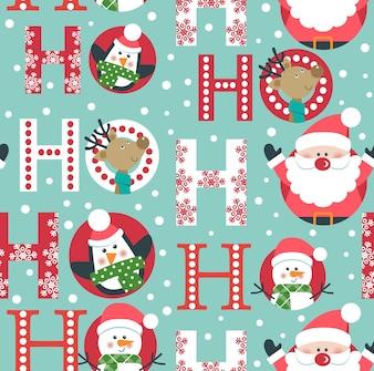 Weihnachtsnahtloses Muster mit Sankt